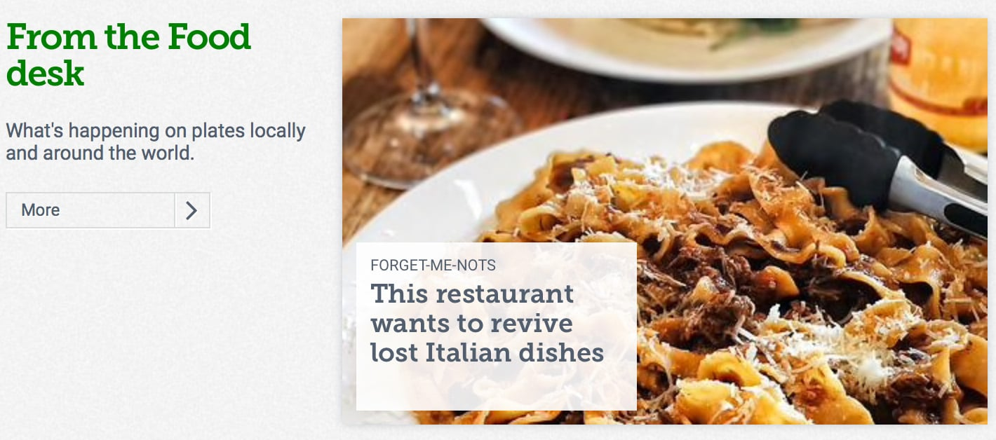 This restaurant wants to revive lost Italian dishes »